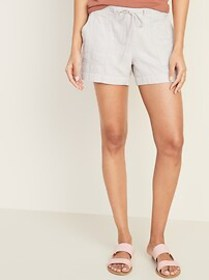 Relaxed Mid-Rise Soft Shorts for Women - 4-inch in