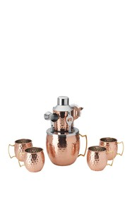 MIKASA Copper Hammered Moscow Mule 10-Piece Bar Se