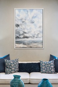 PTM Images Cloud Beach-Large Floater Framed Canvas