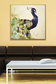 PTM Images Peacock-Medium Floater Framed Canvas