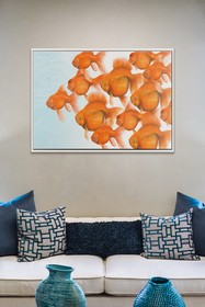 PTM Images Goldfish School-Large Floater Framed Ca