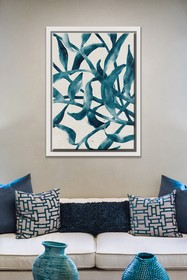 PTM Images Blue Pods-Large Floater Framed Canvas