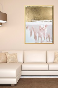 PTM Images Golden Drip-Large Floater Framed Canvas