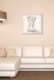 PTM Images Nude Study-Small Floater Framed Canvas