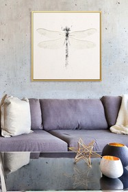 PTM Images Dragonfly-Large Floater Framed Canvas