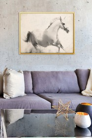 PTM Images Horse Study-Large Floater Framed Canvas