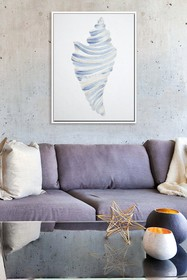 PTM Images Conch-Medium Floater Framed Canvas