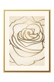 PTM Images Gold Rose Outline Canvas with Floater F