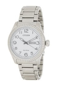 Citizen Men's Eco-Drive White Dial Day Date Analog
