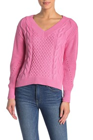 Abound Cable Knit V-Neck Sweater