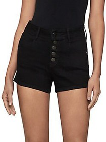 BCBGMAXAZRIA High-Rise Denim Shorts NOIR