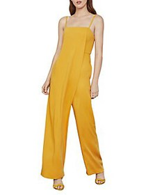 BCBGMAXAZRIA Draped Wide-Leg Jumpsuit GOLDEN GLOW