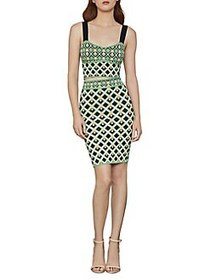BCBGMAXAZRIA Diamond Knit Pencil Skirt GREEN