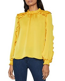 BCBGMAXAZRIA - Smocked Long Sleeve Blouse