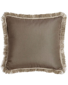 Lacefield Designs Fringed Taupe Outdoor Pillow