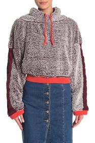 Free People Wild Heart Faux Shearling Pullover