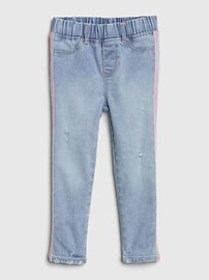 Toddler Glitter Side-Stripe Jeggings with Stretch