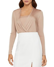BCBGMAXAZRIA - Layered-Look Faux-Wrap Bodysuit