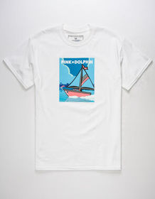 PINK DOLPHIN Travel Portrait Mens T-Shirt_