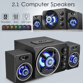 USB 2.1 Desktop Computer Speaker with Colorful LED