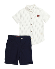 7 FOR ALL MANKIND Little Boys Shirt And Twill Shor
