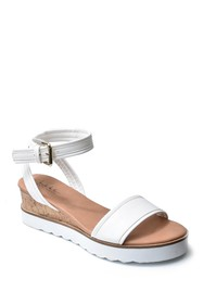 Nicole Miller Jasper White Sole Wedge Sandal