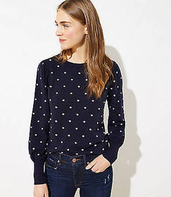 Dotted Bobble Pointelle Sweater