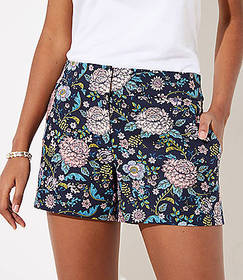Floral Riviera Shorts with 4 Inch Inseam