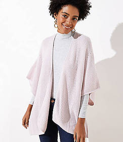 Pointelle Ribbed Wrap