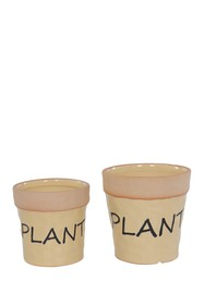 Special T Imports Ceramic Yellow Plant Pot - Set o
