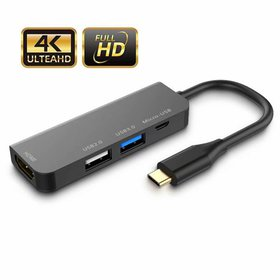 USB C to HDMI Adapter,4-in-1 USB C Adapter,USB C H