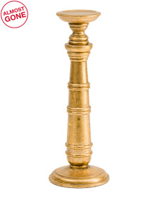 HANDCRAFTED IN INDIA Large Wooden Candle Holder