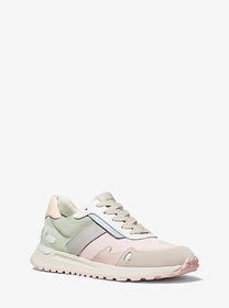Michael Kors Monroe Canvas and Suede Trainer