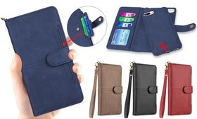 Folio Wallet Phone Case with Detachable Phone Cove