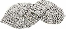Nina Overlapping Crystal Bow Barrette