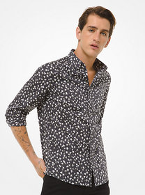 Michael Kors Slim-Fit Abstract Floral Stretch-Cott