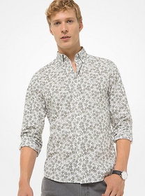 Michael Kors Slim-Fit Abstract Floral Cotton-Stret