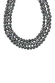 Savvy Cie Sterling Silver 7mm Black Pearl and Hema