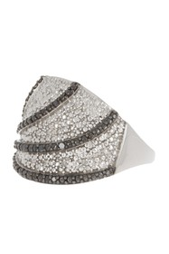 Savvy Cie Sterling Silver Two-Tone Diamond Ring -
