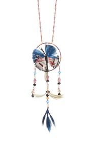 Valentino Beaded Butterfly Dream Catcher & Feather