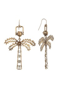 Valentino Embellished Palm Tree Drop Earrings