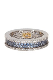 Suzy Levian Sterling Silver Sapphire Band