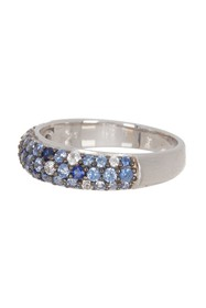 Suzy Levian Sterling Silver Sapphire Ring