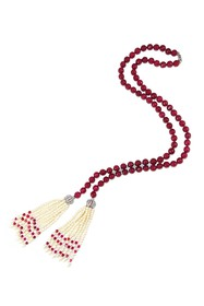 Savvy Cie Cranberry Agate & 4-5mm Cultured Pearl N