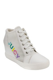 Juicy Couture Jump Logo Mesh Wedge Sneaker