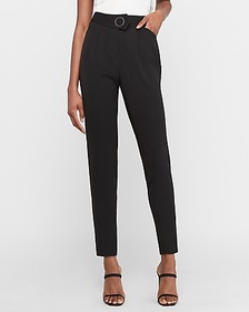 Express high waisted o-ring ankle pant