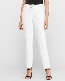 Express high waisted lined o-ring ankle pant