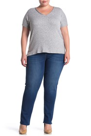 Seven7 High Waisted Slim Straight Jeans (Plus Size