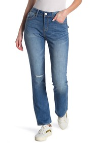 Seven7 Embroidered Distressed Bootcut Jeans