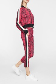 PAM AND GELA Baby Boa Crop Track Pants